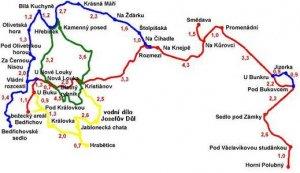 Mapka Bedřichov