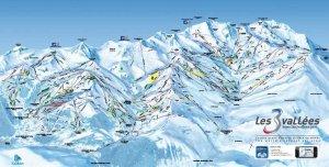 Mapka 3 Vallées